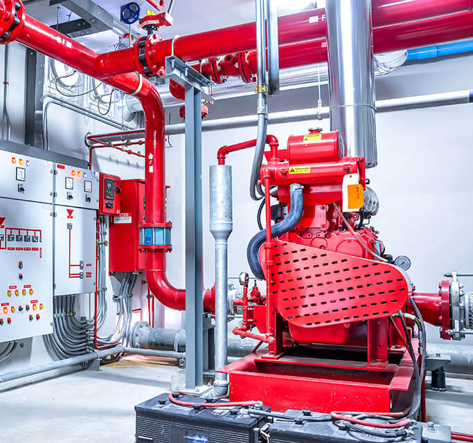 Install a fire extinguishing system