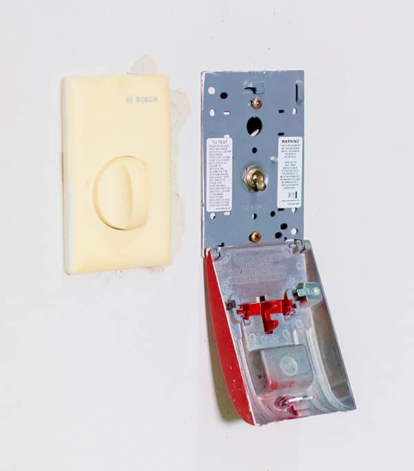 Clean and inspect the fire alarm push button