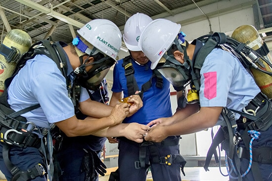Training picture in a confined space 2020 - Toshiba Bangkadi
